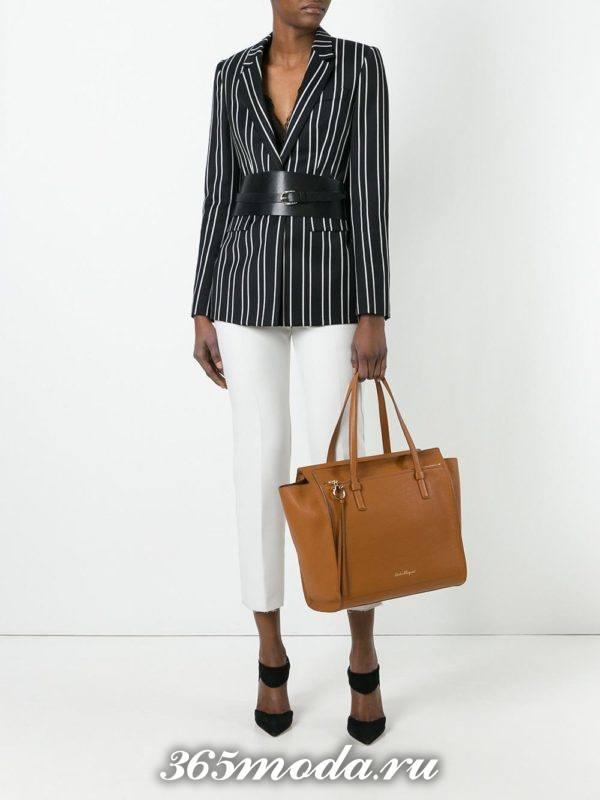 сумки «Почтальон» коричневая