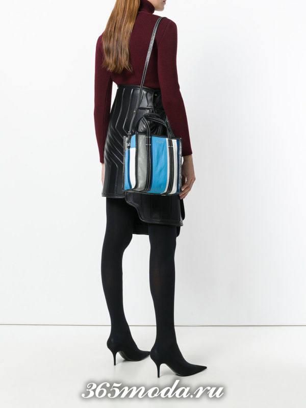 сумки «Почтальон» полосатая