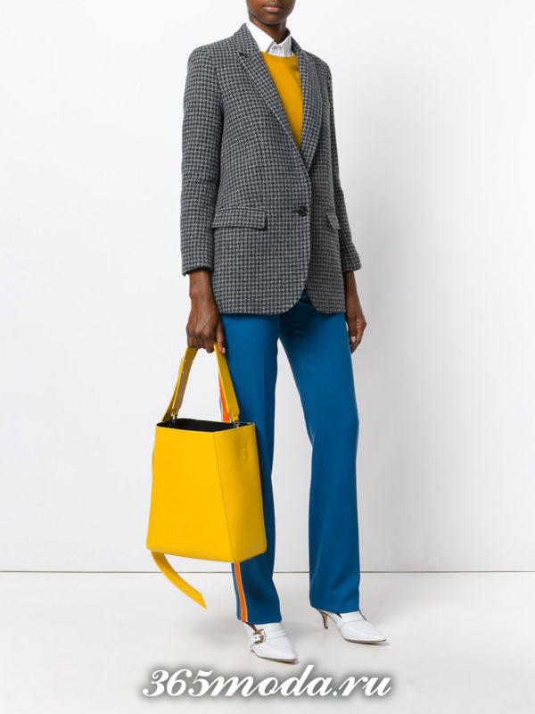 большая желтая сумка