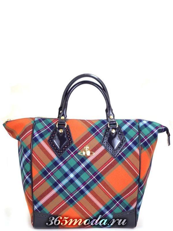 сумка в шотландскую клетку большая