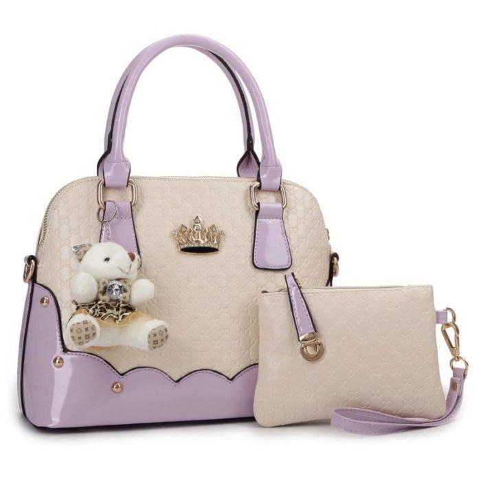 модная «парная» двухцветная сумка