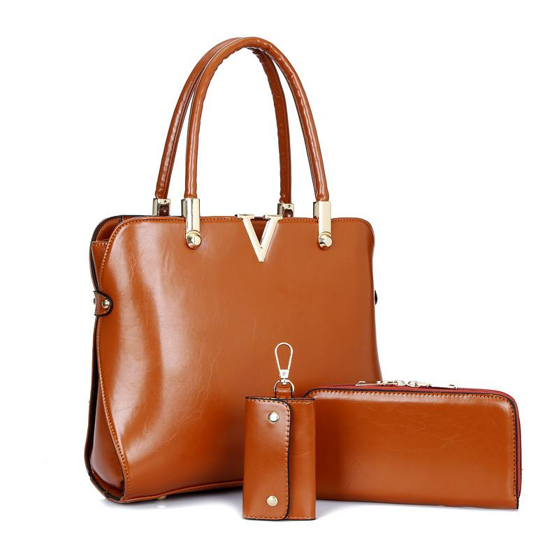 модная «парная» коричневая сумка