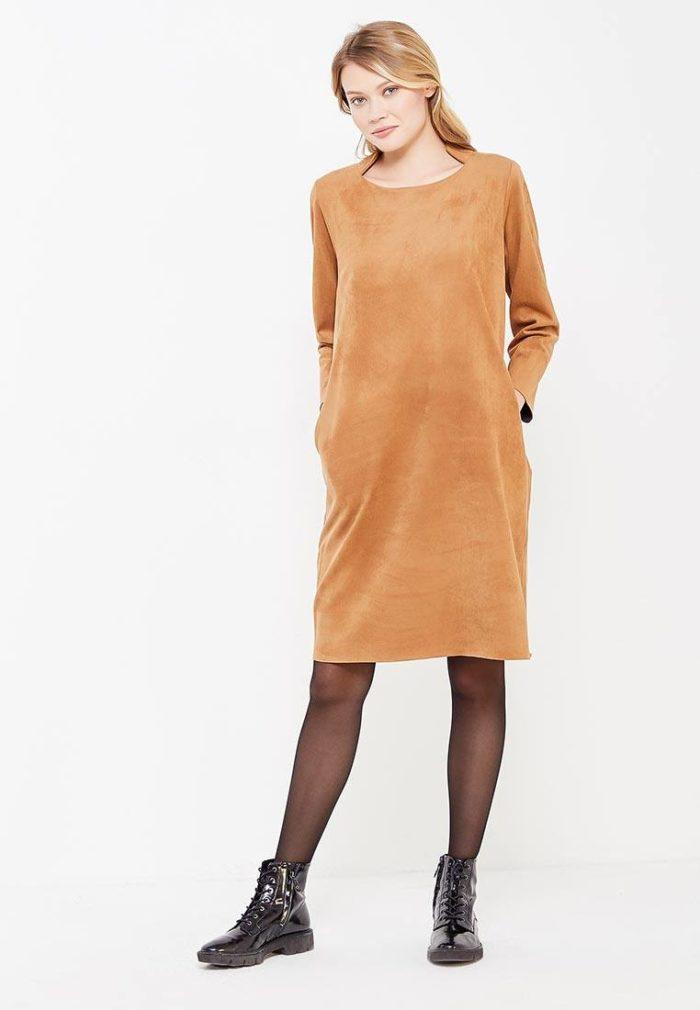 классическое свободное миди платье