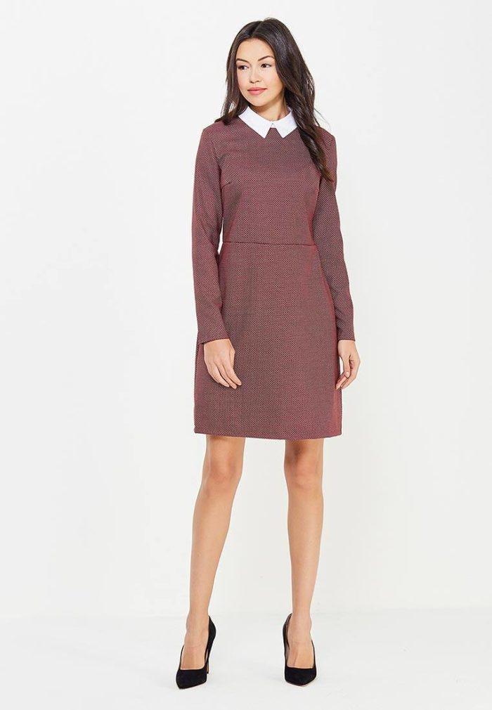 классическое платье с воротником