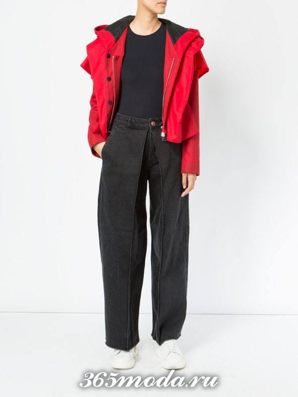 черные джинсы клеш осень-зима