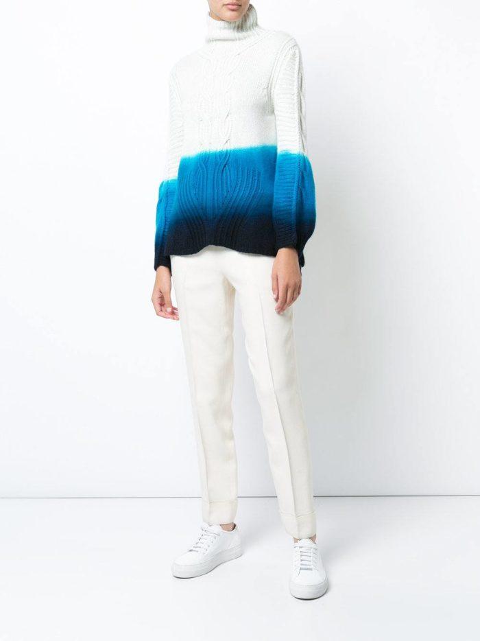градиентный свитер осень-зима
