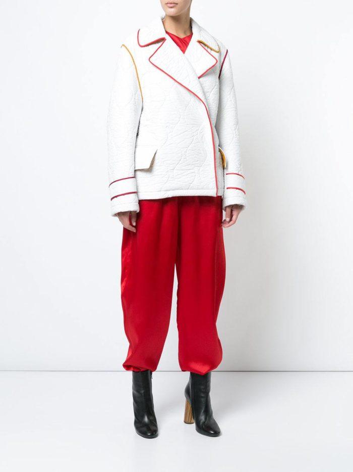 брюки шаровары осень-зима с четными ботинками