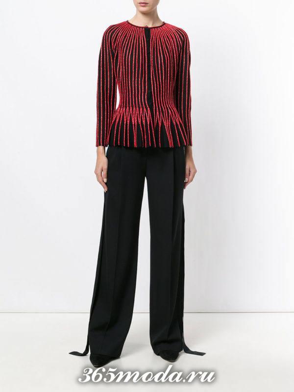 модный образ осень-зима с бордовым пиджаком