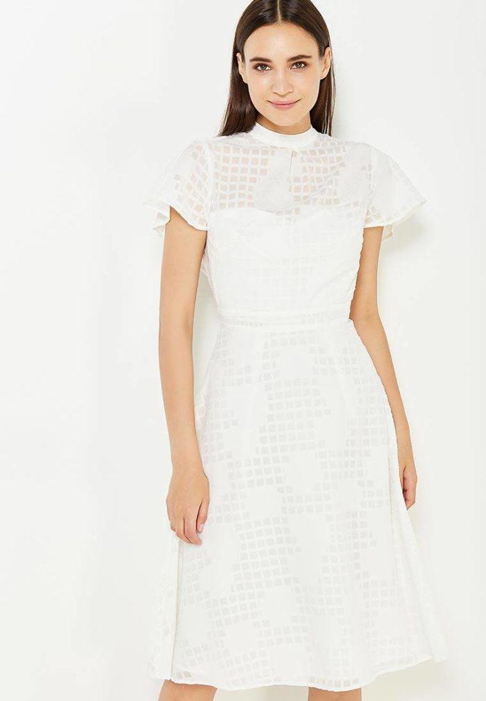 70dbf02e58d модные платья на каждый день 2019-2020  клеш весна-лето с коротким и