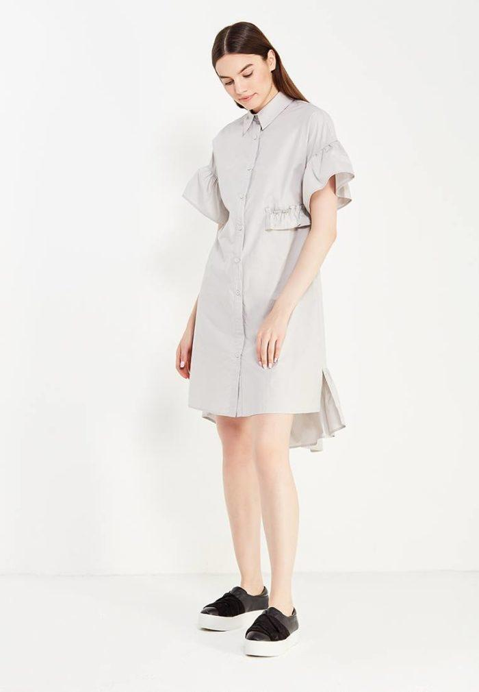 модные платья на каждый день: асимметричное рубашка