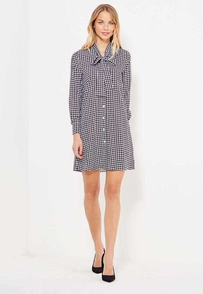 модные платья на каждый день: серое рубашка