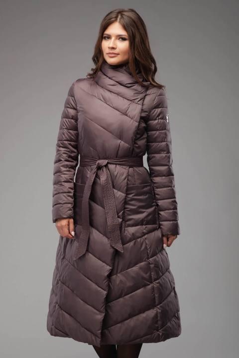 асимметричный пуховик платье с поясом осень-зима