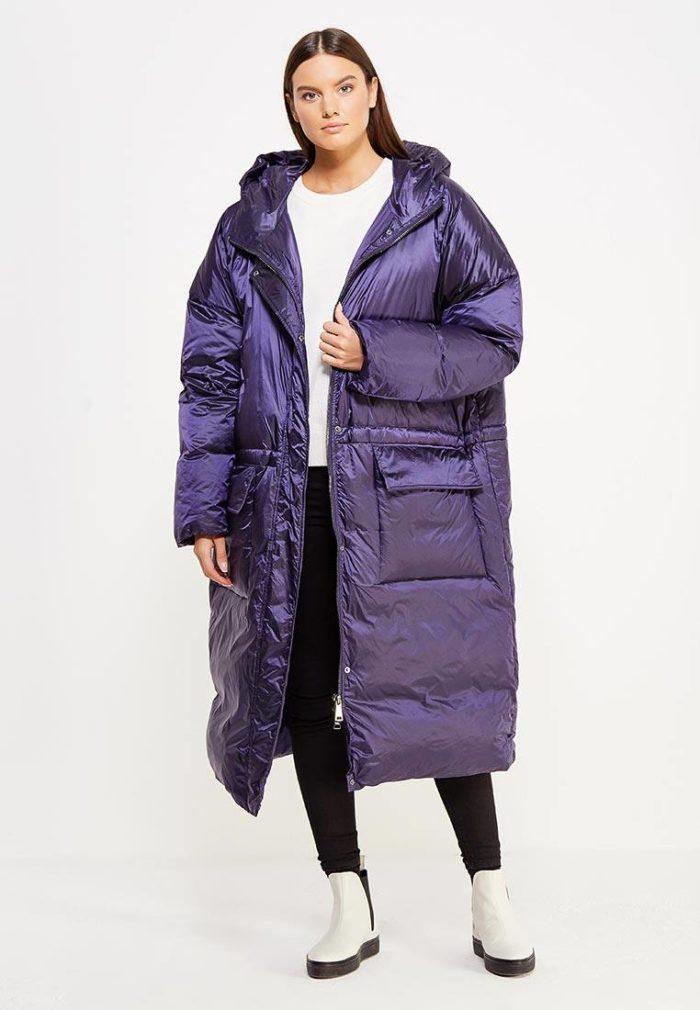 модный фиолетовый оверсайз
