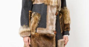 пальто с меховой отделкой осень-зима