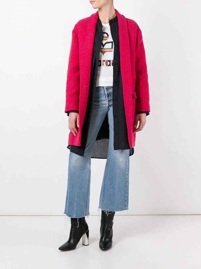 модные пальто осень зима: розовое