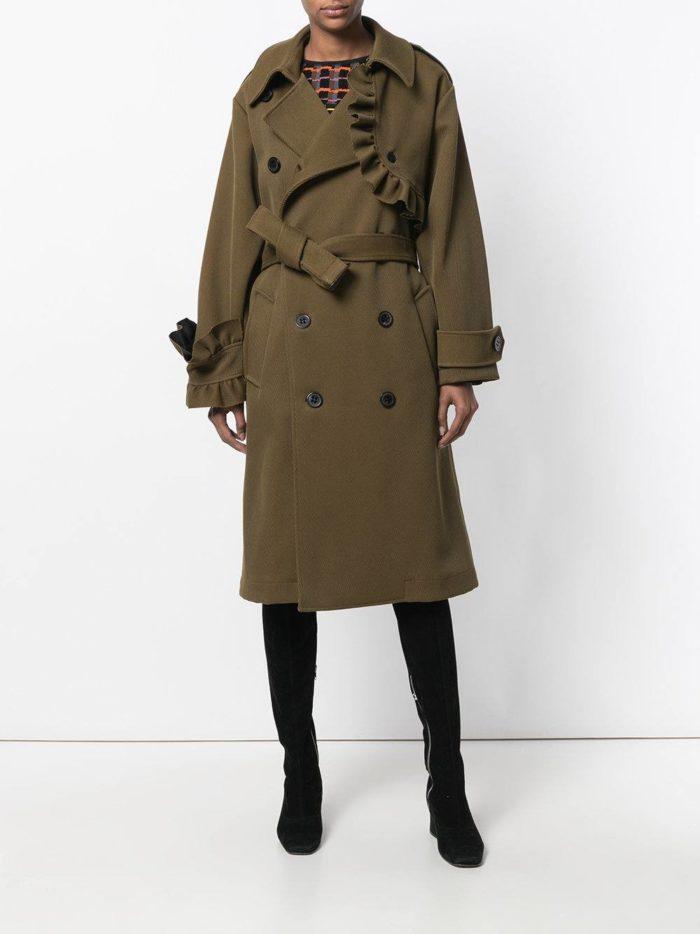 модные пальто осень зима: с поясом на пуговицах