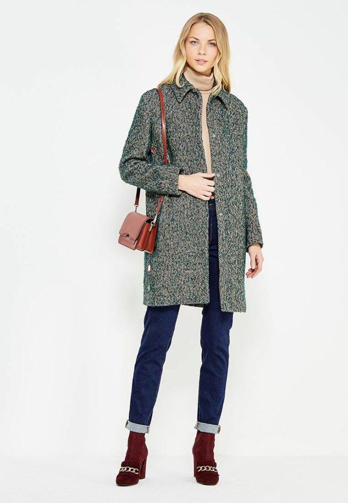модные пальто осень зима 2019-2020: серое