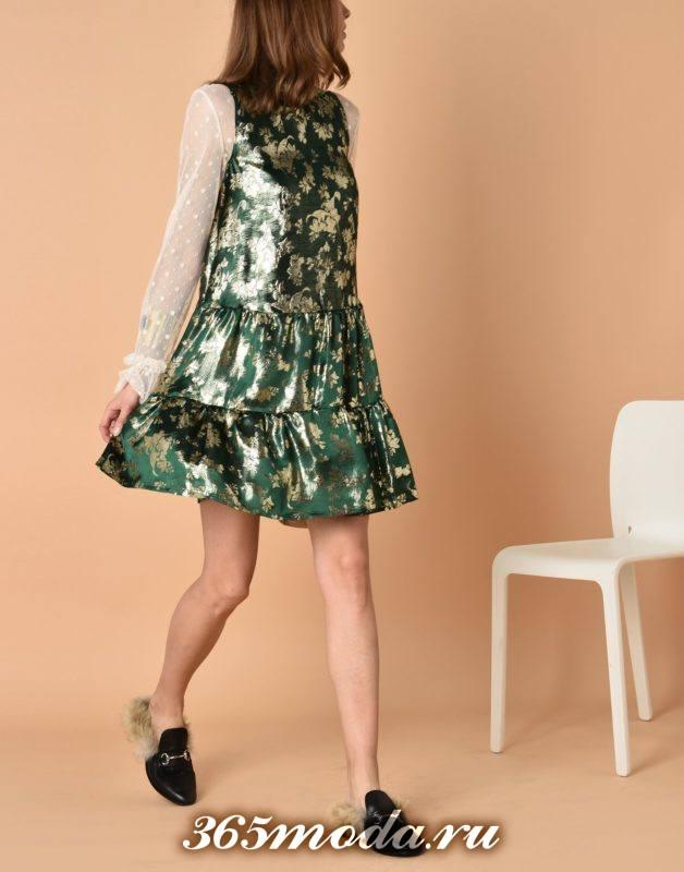 сет с коротким платьем с принтом