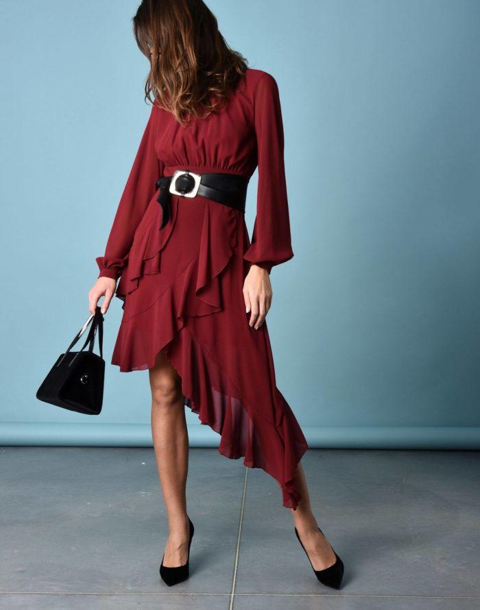 Модные сеты: с асимметричным платьем с оборками