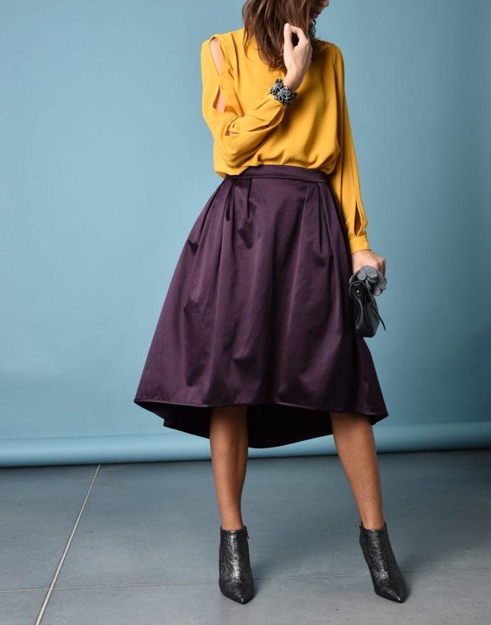 Модные сеты: с асимметричной пышной юбкой