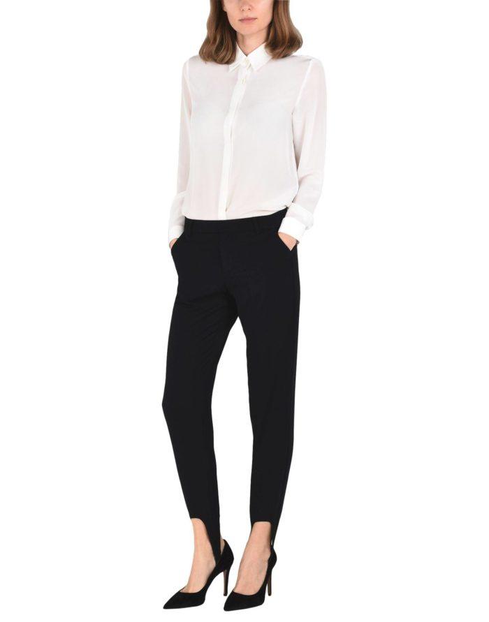 Модные сеты: с черными брюками-дудочками