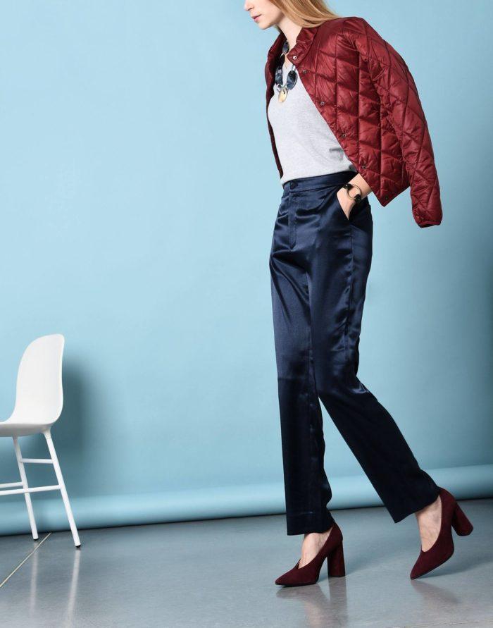 Модные сеты: с синими прямыми брюками
