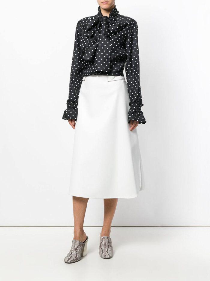 Модный сет: с блузой в горошек с бантом
