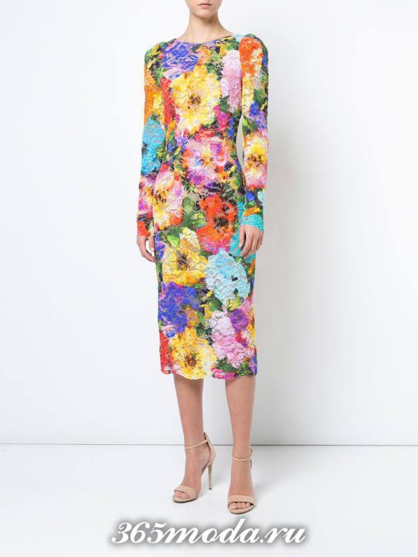 сет с кружевным платьем футляр с цветочным принтом