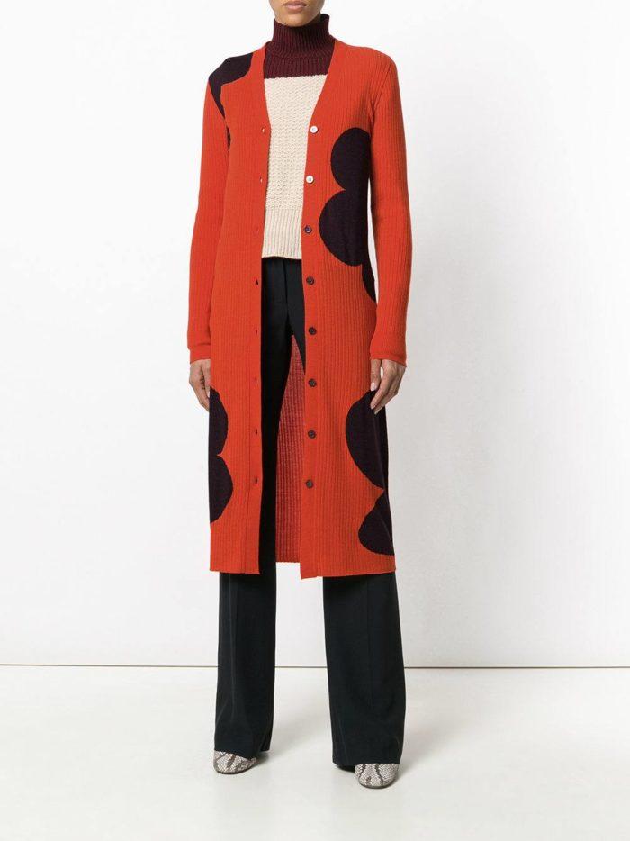 Модный сет: с длинным кардиганом с изображением