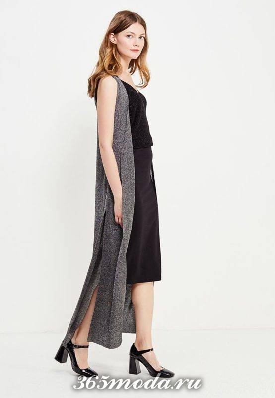 с чем носить серый летний удлиненный жилет без рукавов