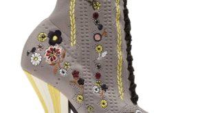 ботинки чулки с принтом на шнуровке женские весна