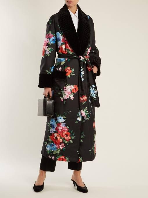 образ с пальто миди с принтом весна