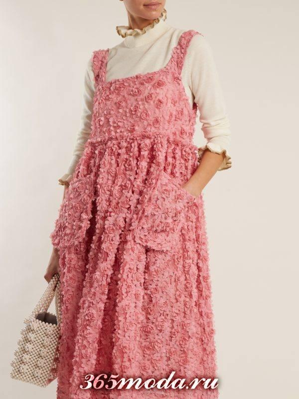 образ с розовым сарафаном весна
