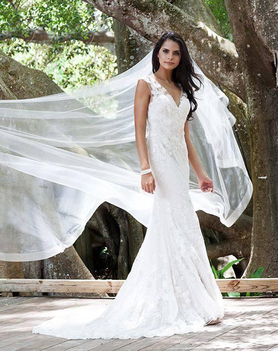 свадебная фата длинная с полосками