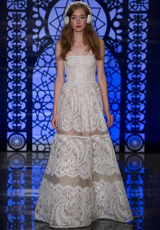 свадебное платье бюстье кружевное