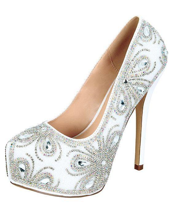 свадебные туфли с принтом на платформе