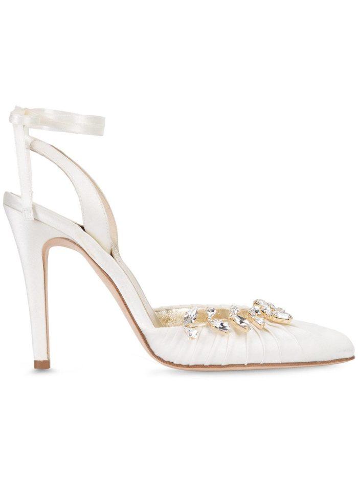 Свадебная мода: туфли с камнями