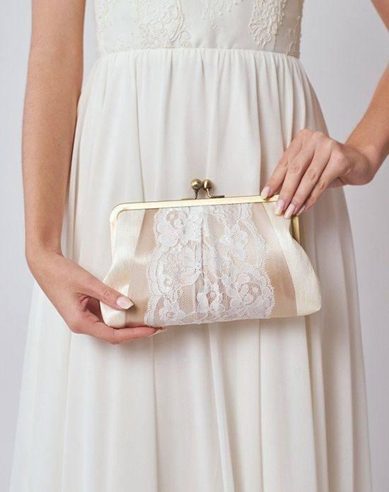 свадебная сумка с кружевом