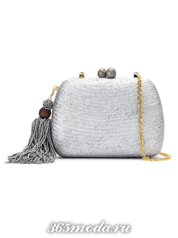свадебная сумка серебристая