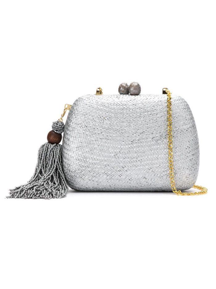 Свадебная мода: сумка серебристая