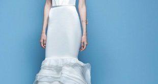 cвадебное платье русалка с оборками