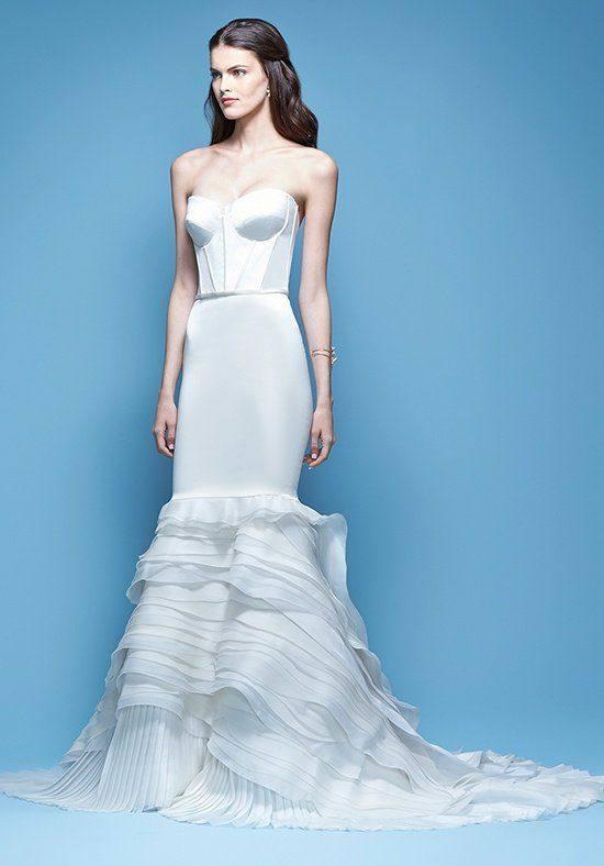 свадебное платье русалка с оборками