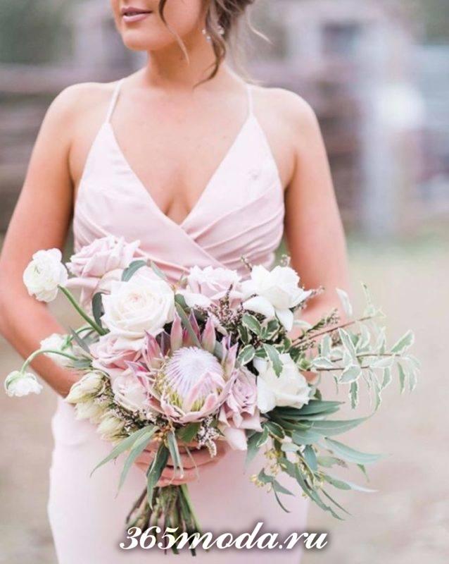 свадебный букет модный