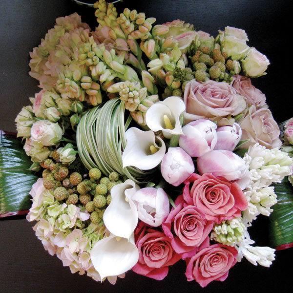 свадебный букет микс цветов
