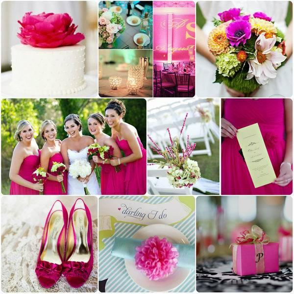 модная розовая свадьба