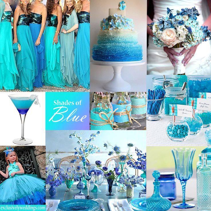 модная синяя свадьба
