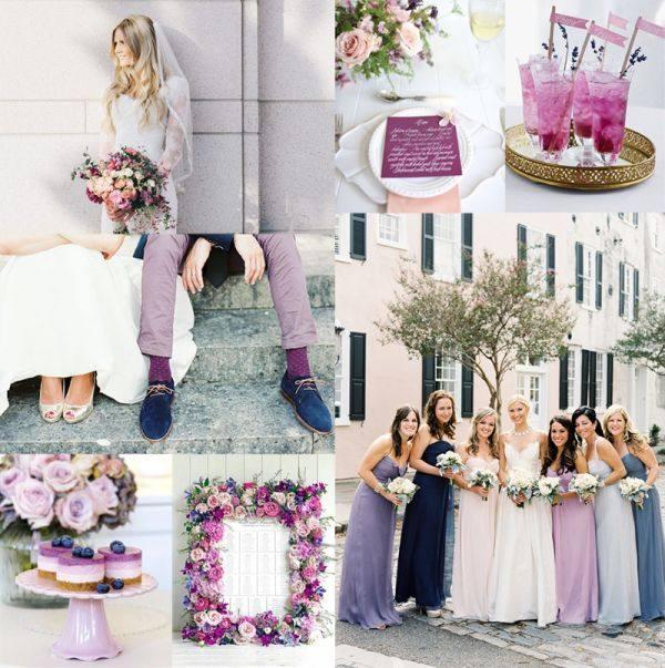 модная сиреневая свадьба