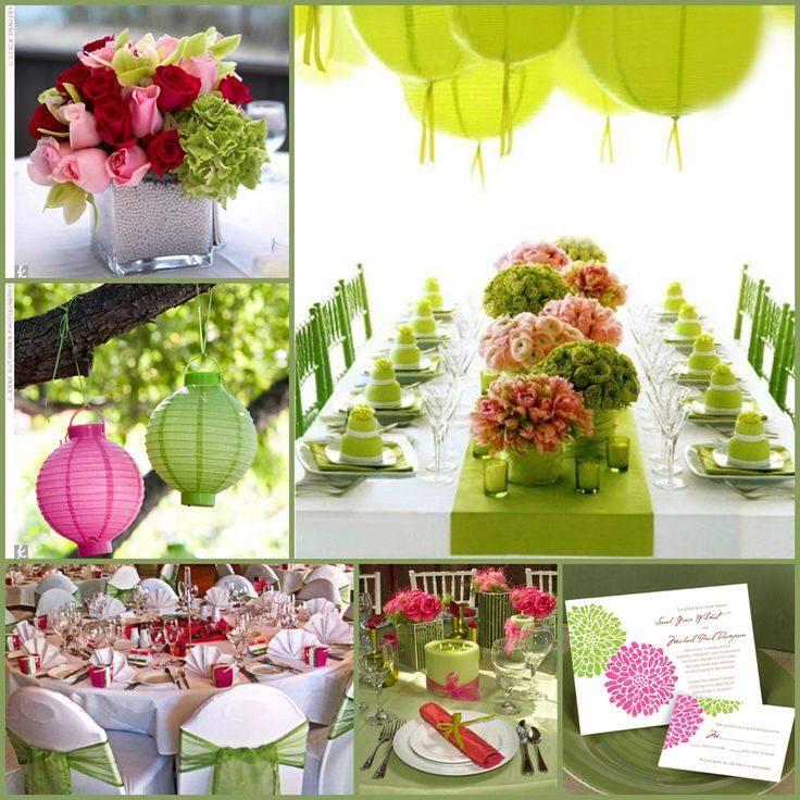 модная зеленая свадьба