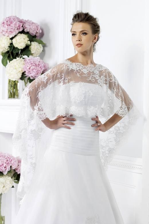 свадебная накидка белая кружевная