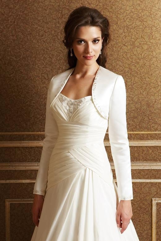 белая свадебная накидка жакет